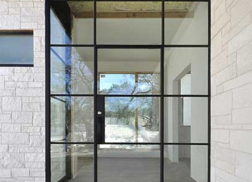 Puerta diseño-hierro y cristal-Metaldone